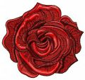Dark red rose embroidery design