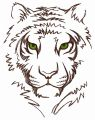 White tiger 2 embroidery design