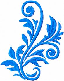 Free leaves ornament machine embroidery design