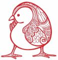 Mosaic chicken 2 embroidery design