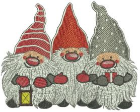 Dwarves machine embroidery design