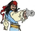 Jack Sparrow with Gun embroidery design
