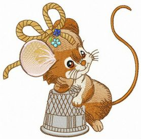 Mouse the tailor machine embroidery design
