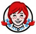 Wendy's logo 2 embroidery design
