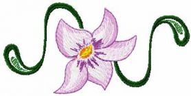 Lily free embroidery design 13