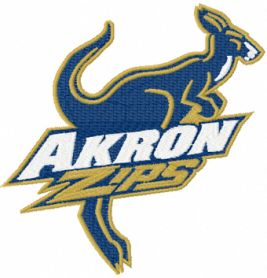 Akron Zips logo machine embroidery design