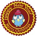 Christmas funny label embroidery design