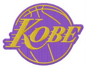 Kobe Bryant Lakers machine embroidery design