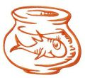 Fish in aquarium embroidery design