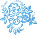 Blue Flower 3 embroidery design