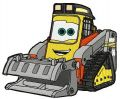 Fred the bulldozer embroidery design