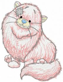 Paws machine embroidery design