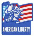 American Liberty embroidery design
