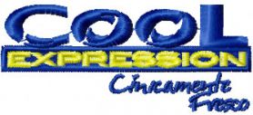 Cool Expression Logo machine embroidery design