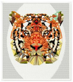 Mosaic tiger 4 machine embroidery design