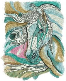 Horse spirit in my dreams machine embroidery design