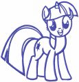Twilight Sparkle one colored embroidery design