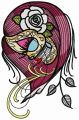 Dead beauty 5 embroidery design