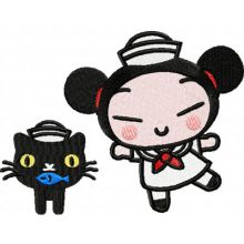 Pucca Dancing with a Cat