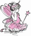 Ballet fairy embroidery design