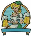 Beer girl embroidery design