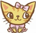 Cute kitty 25  embroidery design