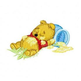 Sleep Baby Pooh machine embroidery design