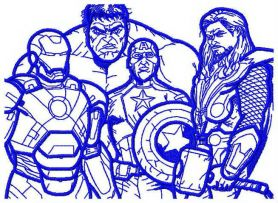 Avengers machine embroidery design