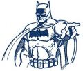 Batman sketch 2 embroidery design