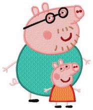 Peppa Pig with dad