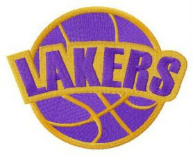 Los Angeles Lakers logo machine embroidery design