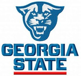 Georgia State Panthers logo machine embroidery design