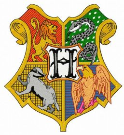 Coat of arms of Hogwarts 2 machine embroidery design
