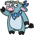 Cow - Dora the Explorer's friend embroidery design