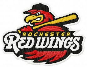 Rochester Red Wings team logo machine embroidery design