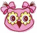 Owl color sketch embroidery design
