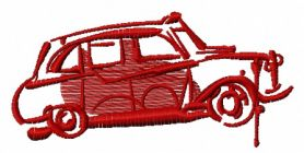 London car machine embroidery design