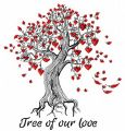 Tree of our love embroidery design