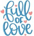 Full of love free embroidery design