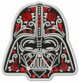 Darth Vader in bloom embroidery design