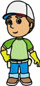 Handy Manny 1 machine embroidery design