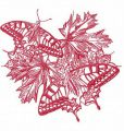 Autumn butterflies 3 embroidery design