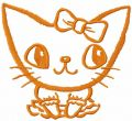 Orange cat embroidery design