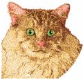 Cat free photo stitch embroidery design