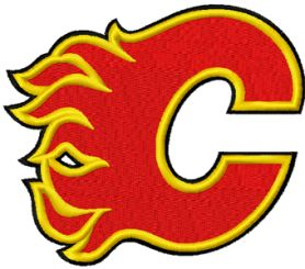 Calgary Flames logo machine embroidery design