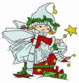 Christmas elf 6 embroidery design