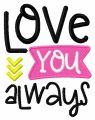 Love you always 2 embroidery design