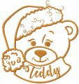 Christmas Teddy free embroidery design
