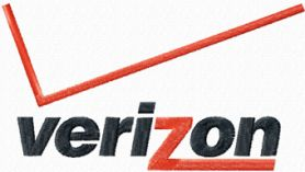 Verizon logo machine embroidery design