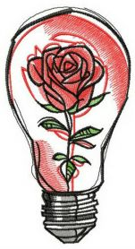 Fragile rose machine embroidery design